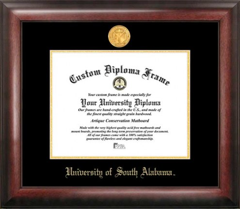 South Alabama Jaguars Gold Embossed Diploma Frame