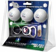 South Alabama Jaguars Golf Ball Gift Pack with Key Chain