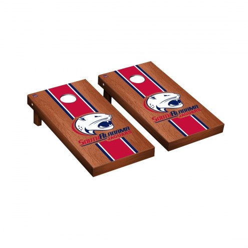 South Alabama Jaguars Rosewood Stained Cornhole Game Set
