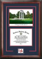 South Alabama Jaguars Spirit Diploma Frame with Campus Image