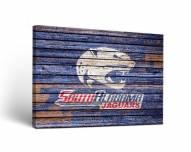 South Alabama Jaguars Weathered Canvas Wall Art