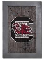 "South Carolina Gamecocks 11"" x 19"" City Map Framed Sign"