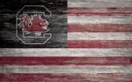 "South Carolina Gamecocks 11"" x 19"" Distressed Flag Sign"