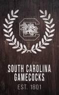 "South Carolina Gamecocks 11"" x 19"" Laurel Wreath Sign"