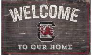 """South Carolina Gamecocks 11"""" x 19"""" Welcome to Our Home Sign"""