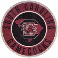 "South Carolina Gamecocks 12"" Circle with State Sign"