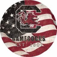 "South Carolina Gamecocks 12"" Team Color Flag Circle Sign"