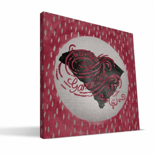 "South Carolina Gamecocks 12"" x 12"" Born a Fan Canvas Print"