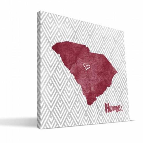 """South Carolina Gamecocks 12"""" x 12"""" Home Canvas Print"""
