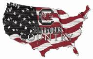 "South Carolina Gamecocks 15"" USA Flag Cutout Sign"