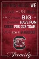 """South Carolina Gamecocks 17"""" x 26"""" In This House Sign"""