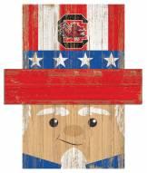 "South Carolina Gamecocks 19"" x 16"" Patriotic Head"