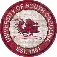 "South Carolina Gamecocks 24"" Heritage Logo Round Sign"