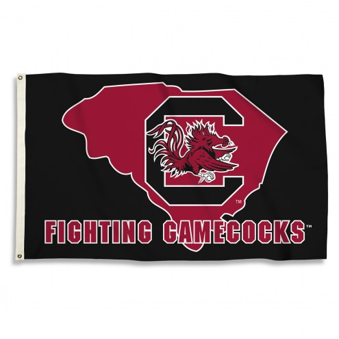 South Carolina Gamecocks 3' x 5' State Outline Flag