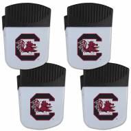 South Carolina Gamecocks 4 Pack Chip Clip Magnet with Bottle Opener