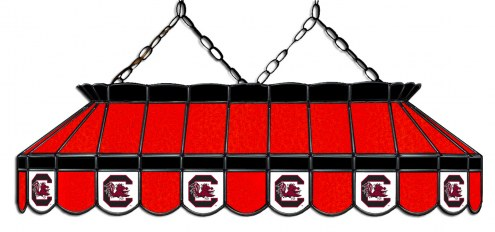 """South Carolina Gamecocks 40"""" Stained Glass Pool Table Light"""