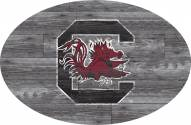 "South Carolina Gamecocks 46"" Distressed Wood Oval Sign"
