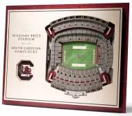 South Carolina Gamecocks 5-Layer StadiumViews 3D Wall Art