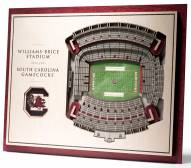South Carolina Gamecocks 5-Layer StadiumViews 3D Wall Art