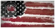 """South Carolina Gamecocks 6"""" x 12"""" Flag Sign"""