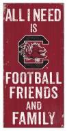 "South Carolina Gamecocks 6"" x 12"" Friends & Family Sign"