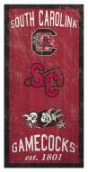 "South Carolina Gamecocks 6"" x 12"" Heritage Sign"
