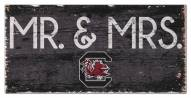 "South Carolina Gamecocks 6"" x 12"" Mr. & Mrs. Sign"
