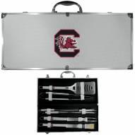 South Carolina Gamecocks 8 Piece Stainless Steel BBQ Set w/Metal Case