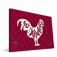 "South Carolina Gamecocks 8"" x 12"" Mascot Canvas Print"