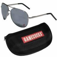 South Carolina Gamecocks Aviator Sunglasses and Zippered Carrying Case