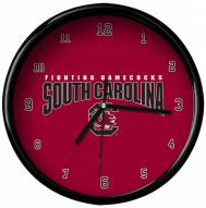 South Carolina Gamecocks Black Rim Clock