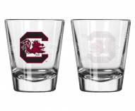 South Carolina Gamecocks Satin Etch Shot Glass Set