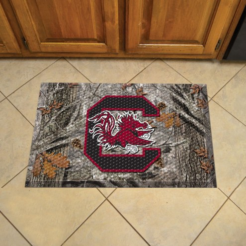 South Carolina Gamecocks Camo Scraper Door Mat