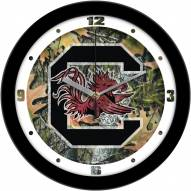 South Carolina Gamecocks Camo Wall Clock
