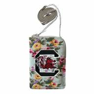South Carolina Gamecocks Canvas Floral Smart Purse