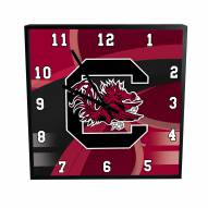 South Carolina Gamecocks Carbon Fiber Square Clock
