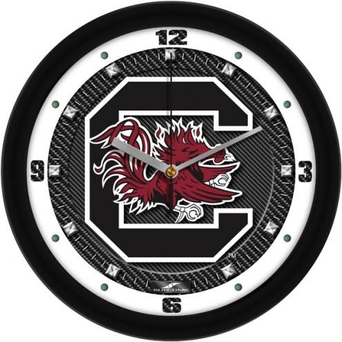 South Carolina Gamecocks Carbon Fiber Wall Clock