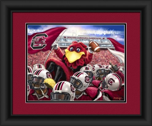 South Carolina Gamecocks Celebration Framed Print