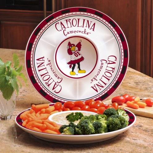 South Carolina Gamecocks Ceramic Chip and Dip Serving Dish