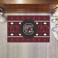 South Carolina Gamecocks Christmas Sweater Starter Rug