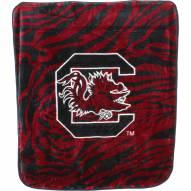 South Carolina Gamecocks Raschel Throw Blanket