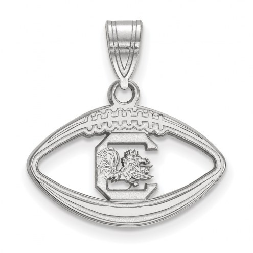 South Carolina Gamecocks Sterling Silver Football Pendant