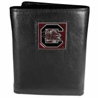 South Carolina Gamecocks Deluxe Leather Tri-fold Wallet in Gift Box