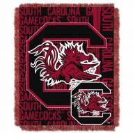 South Carolina Gamecocks Double Play Woven Throw Blanket