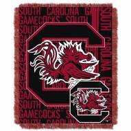 South Carolina Gamecocks Double Play Woven Throw Blanket