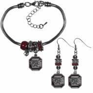 South Carolina Gamecocks Euro Bead Earrings & Bracelet Set