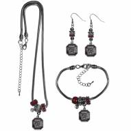 South Carolina Gamecocks Euro Bead Jewelry 3 Piece Set