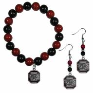 South Carolina Gamecocks Fan Bead Earrings & Bracelet Set