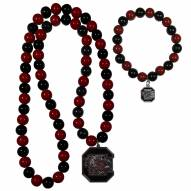South Carolina Gamecocks Fan Bead Necklace & Bracelet Set