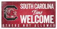 South Carolina Gamecocks Fans Welcome Sign